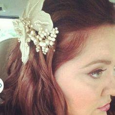 Bridal hair by Amy Alesia. Www.pinupsalongirl.com 4436748160