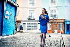 Sesja kolekcji QUIOSQUE na sezon jesień-zima 2014/2015 #QSQ #photography #photo #retro #vintage #england #greatbritain #fashion #inspiration #autumn #fall #look #outfit #women #beauty #style #casual #elegance #blue