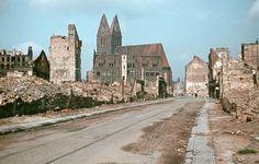 HANNOVER Die zerstörte Marktkirche im Oktober 1944.