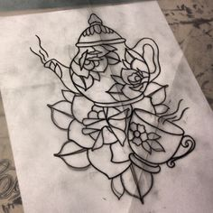 teapot tattoo simple - Google Search