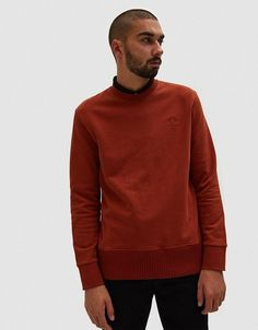 6db3e53dcaea Fred Perry, Raf Simons, Franse Terry, Crew Sweatshirt, Stiksels, Portugal,