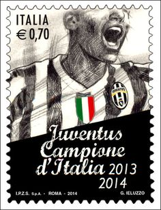 """Forza Juve! Emissione di un francobollo ordinario appartenente alla serie tematica """"lo Sport"""" dedicato alla squadra vincitrice del Campionato italiano di calcio di serie A"""