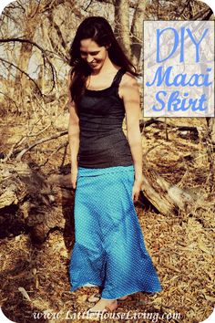 How to make your own DIY Maxi Skirt without a pattern! Fun project, perfect spring outfit!