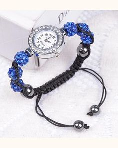 Studded Sphere Blue Wrist Watch blueWSTS445