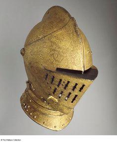 Armet German helmet c. 1555 used in the tilt or tournament see the rinforce on the left face Helmet Armor, Knights Helmet, Arm Armor, Armadura Medieval, Medieval Helmets, Medieval Armor, Types Of Armor, German Helmet, Ancient Armor