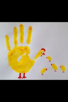 Handabdruck-Huhn