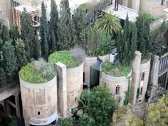 Barcelona, Spain, former Cement Factory. Architect: Ricardo Bofill, 1975