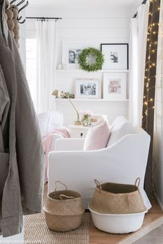 Spring Decor in the Living Room