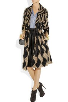 MISSONI  Patterned mohair-blend cardi-coat