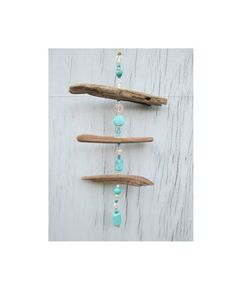 Driftwood Suncatcher with beads and driftwood from Mermaids Masterpiece on Etsy Driftwood Mobile, Driftwood Ideas, Presents For Teachers, Crafts For Kids, Diy Crafts, Cottage Ideas, Sun Catcher, New Hobbies, Decorating On A Budget