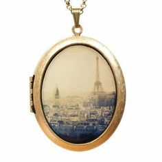 Paris Locket Necklace.
