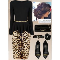 Leopard print and black