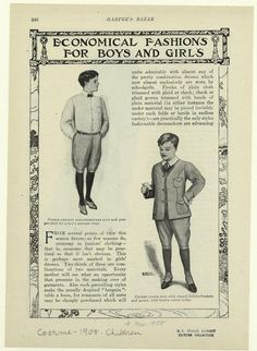 Economical fashions for boys and girls.