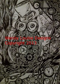 Items similar to Steampunk Owl tattoo idea - Drawing on Etsy