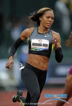 Sanya Richards-Ross wins womens 200m heat in 22.67 during the 2012 U.S. Olympic Team Trials at Hayward Field.