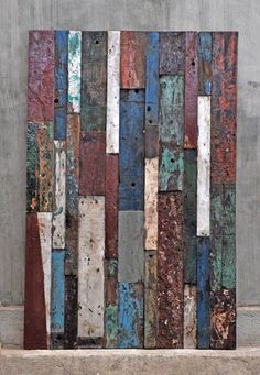 Bringing art into the home is a beautiful way to add character and personality. These patchwork panels are upcycled from Bali boat wood. Truly stunning!