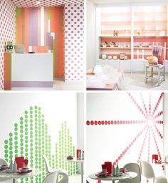 56 ways to decorate with washi tape...  #16. It makes a pretty insane wallpaper.