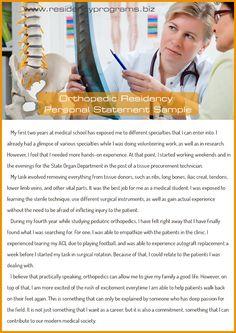 brilliant-orthopedic-residency-personal-statement Residency Programs, Volunteer Work, Medical School, Writing Services, Feelings, Med School