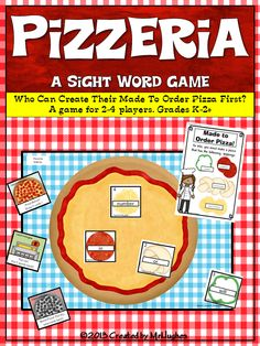 "Pizza! Nearly everyone LOVES pizza! Students will race to match their custom order request and create their pizza while avoiding the ""Burnt Pizza"" and ""Pay Up"" cards! Yup, all that while practicing Fry's first 100 words. ($)"