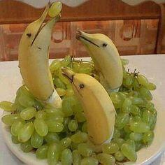 Dolphin food art. Fairly easy but super creative!
