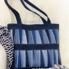Nice upcycled jeans patchwork bag