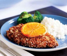 Sweet orange marmalade serves as the tangy binder for the delicious sesame coating on these chicken breasts.