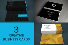 Check out 3 Creative Business Cards by DesignLux on Creative Market