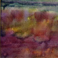 Framed Abstract Landscape Painting... Rainy by KellysArtStudio, $150.00