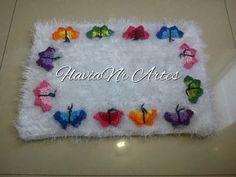 FlaviaNr Artes: Jogo de banheiro decore com borboletas