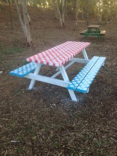 picnic bench no 4 with paint my works rh pinterest es
