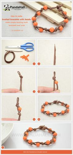 How to Make Knotted Bead Bracelets with Suede ... | Jewelry Making Tu…