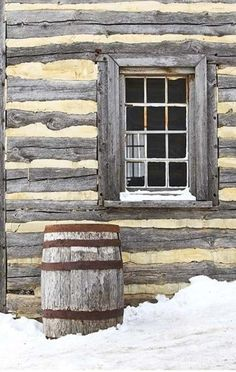 ~Winter's coming to the old log homestead in our mountains.....brrrrr
