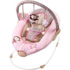 Pink monkey bouncer