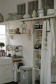 Kitchen in tiny home.....Like the big window behind the sink. TINY HOMES are a great way to conserve energy (especially for heating and cooling), and conserve resources. It's tiny = less resources to build.