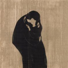 Edvard Munch |Der Kuss IV | 1902/1902-1914 |Privatsammlung Courtesy Galleri K, Oslo © Reto Rodolfo Pedrini, Zürich #EdvardMunch #Munch #Art #Symbolism