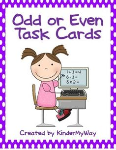 Task Cards - Odd or Even Set includes 60 color coded task cards. Cards include tally marks, dice, numbers and 10 frames. Students count and record on recording sheet.  Task cards have many uses in the classroom. They are great for early finishers, center activities or a game of Scoot. Just print and laminate.