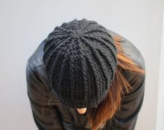 Black Beanie for the hot moms! When you just can't do your hair that day wear a hat. Made in Italy by Hott knots