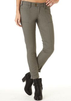 Stretch Twill Seamed Front Skinny - Pants - Clothing - Alloy Apparel