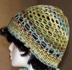 Loom Knit S-Stitch Acrylic hat
