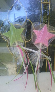 Chocolate lollipop party favor wand way cute for anyone who has girls ; )
