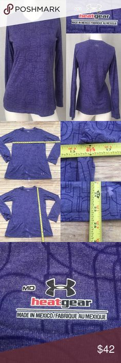 🍡Sz Medium Under Armour Purple Long Sleeve Top Measurements are in photos. Normal wash wear, no flaws. F3/39  I do not comment to my buyers after purchases, due to their privacy. If you would like any reassurance after your purchase that I did receive your order, please feel free to comment on the listing and I will promptly respond.   I ship everyday and I always package safely. Thank you for shopping my closet! Under Armour Tops Tees - Long Sleeve