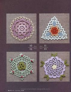 Miracle hands: Free japanese craft book: Crochet Rose Pattern 100