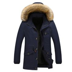 86.99$  Watch here - http://alipfx.worldwells.pw/go.php?t=32751813990 - Hood Fur Jacket Man Winter Warm Parka -30 Degree Plus Size 5XL Plus Velvet Thick Casual Men Down Jackets Outwear Hombre Coats 86.99$