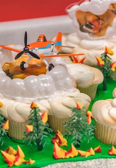 Learn how to make a Planes Fire & Rescue cupcake cake, complete with a Planes Dusty & Friends cake topper. Awesome for a Planes 2 birthday party.