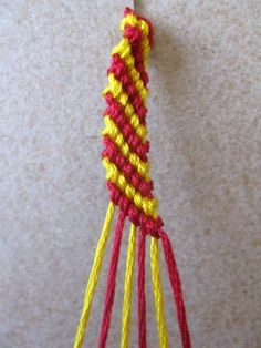 Friendship Bracelet Step by Step ... This is one I like! See more awesome stuff at http://craftorganizer.org
