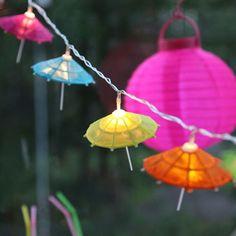 Zehnteilige LED-Party-Lichterkette Schirme                                                                                                                                                                                 Mehr