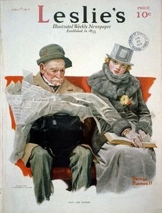 Norman Rockwell, Leslie - Illustrated Weekly Newspaper, (Wikicommons, United States Library of Congress's).