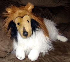 "Plush Collie Dog Stuffed Animal Life Size Large 30"" E&J Classic Collections #EJClassic"
