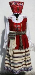 Estonian Folc costume from Mustjala, made by UKU, 375.00 €, eAntiik