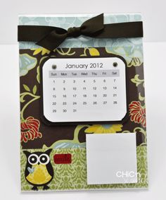 inspiration - 5 x 7 acrylic calendar frame with post-its